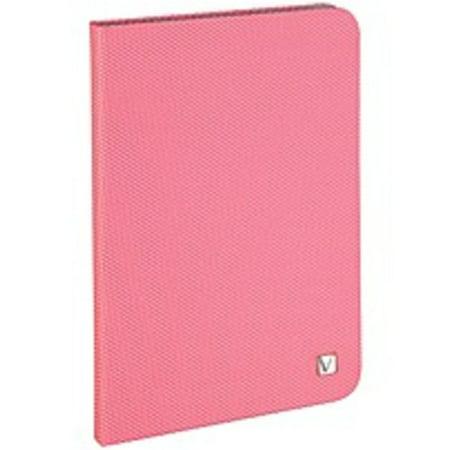 Refurbished Verbatim Folio Hex Case for iPad mini (1,2,3) - Bubblegum Pink - Microsuede Interior - Textured - 8.3