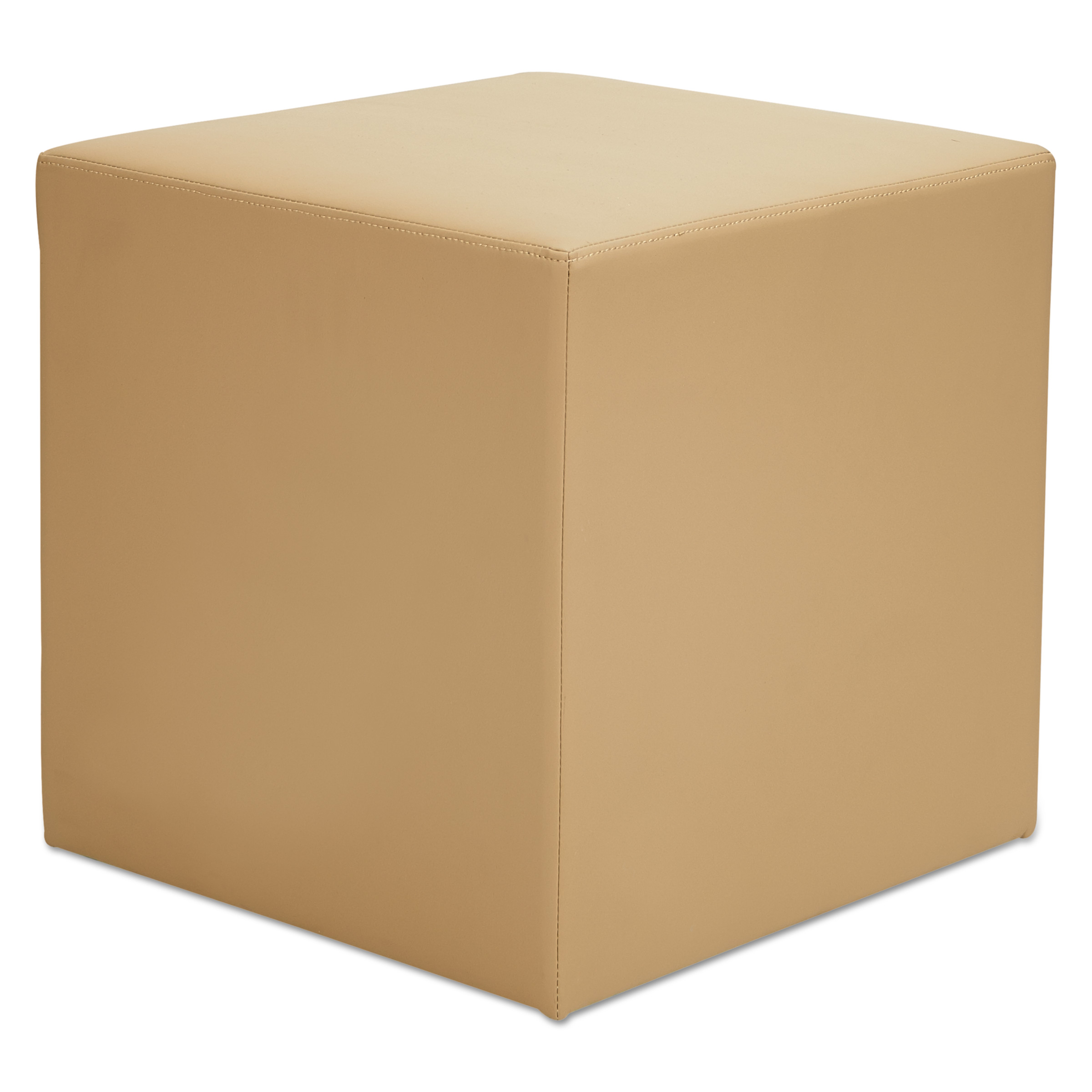Alera WE Series Collaboration Seating, Cube Bench, 18 x 18 x 18, Beige