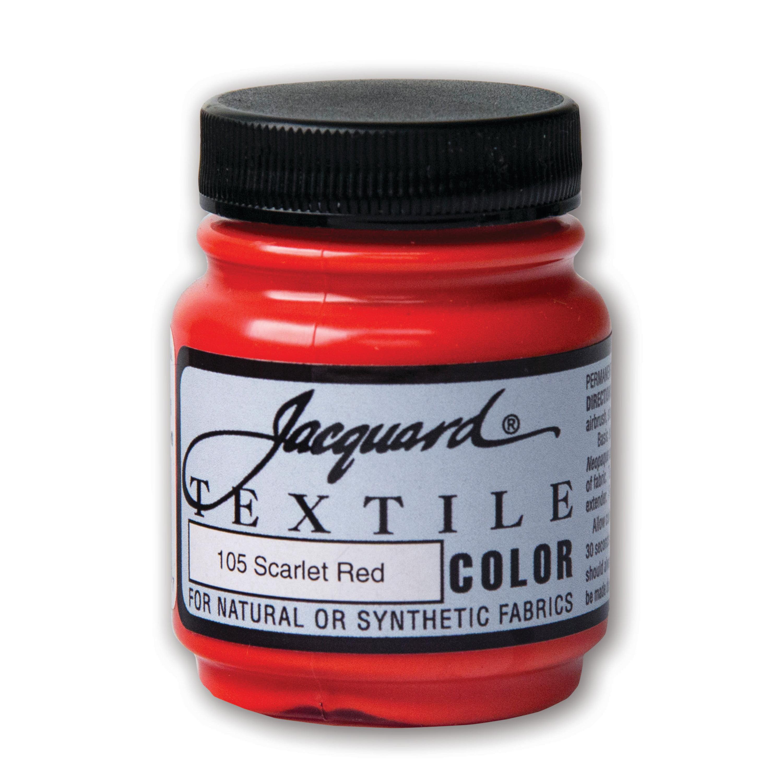 Jacquard Textile Color, 2.25 oz., Scarlet Red