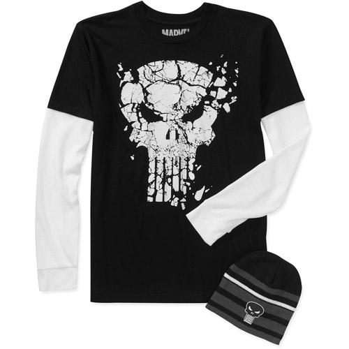 Punisher Big Men's Long Sleeve 3 Fer Tee Shirt