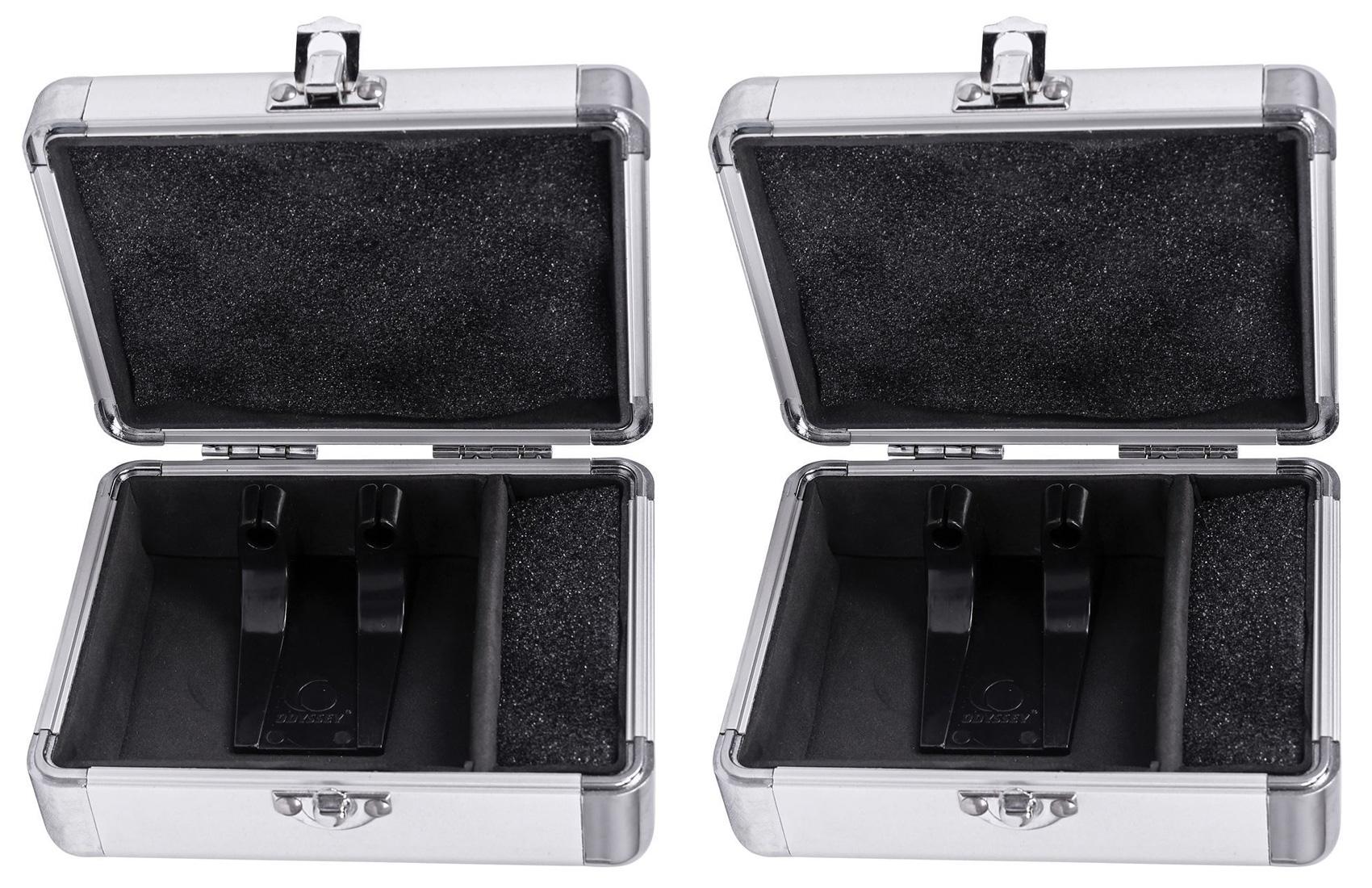 2) Odyssey KCC2PR2SL KROM PRO2 2x Turntable Needle Cartridge Travel Cases SIlver by Odyssey