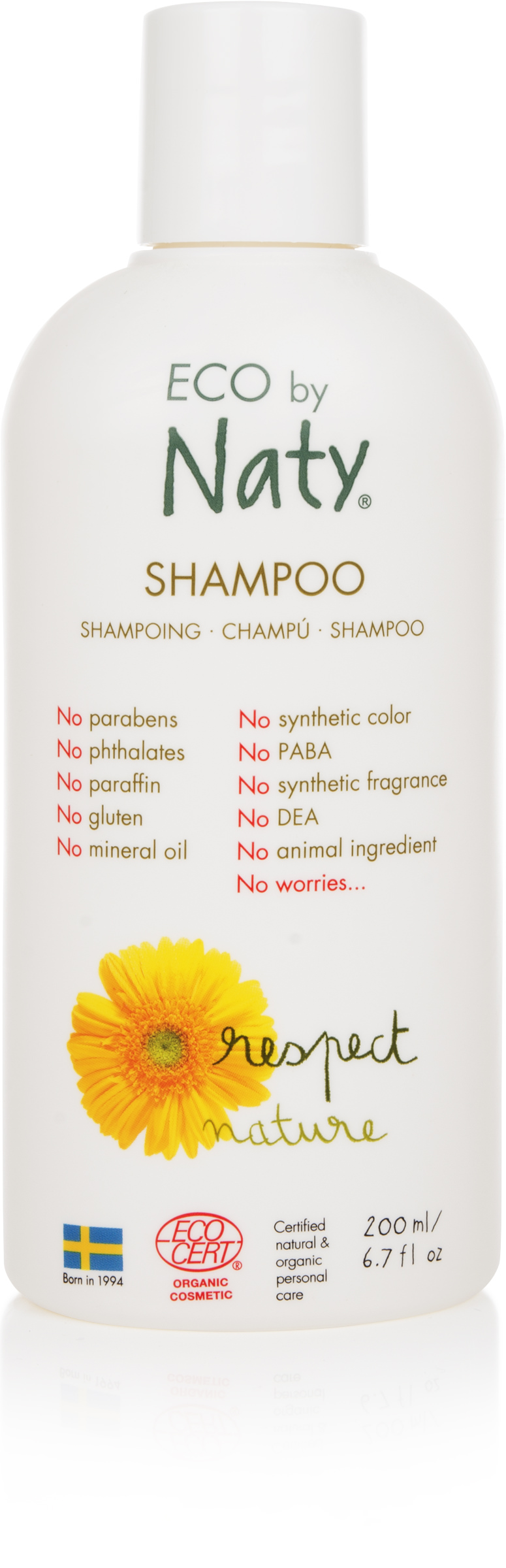 Eco by Naty Organic Shampoo, 6 Bottles of 6.7 Fl. Oz by Eco by Naty