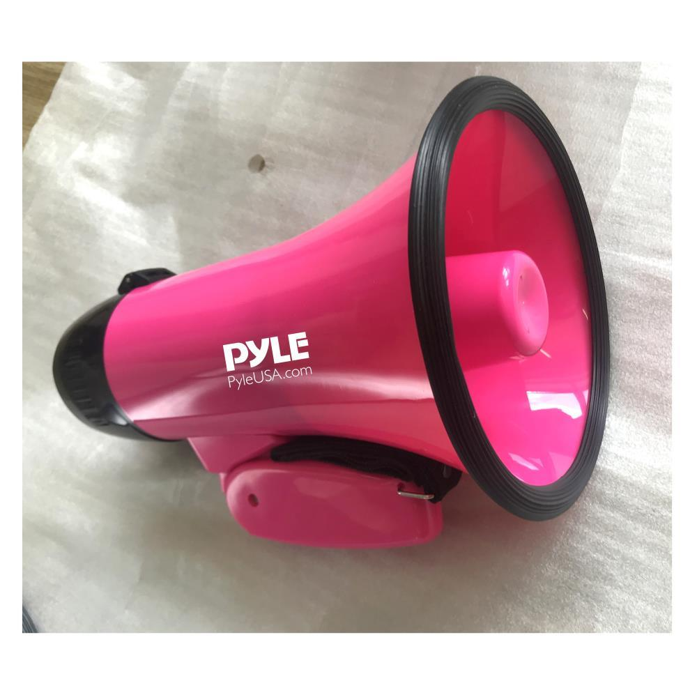 PMP34PK Compact And Portable Megaphone Speaker with Siren Alarm Mode And Adjustable Volume, Battery Operated