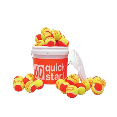 Quick Start 60 Bucket with 36 Tennis Balls