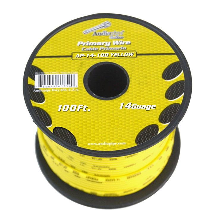 Audiopipe 14 Gauge 100Ft Primary Wire Yellow