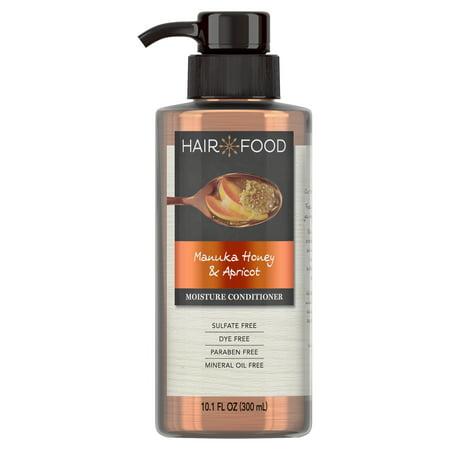 Hair Food Manuka Honey & Apricot Sulfate Free Conditioner, 10.1 fl oz, Dye Free (Silky Moisturizing Conditioner)