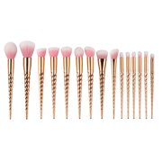 Details about 15Pcs Unicorn Makeup Brushes Cosmetic Tool Kit Eyeshadow Powder Brush set
