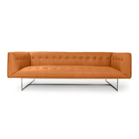 Kardiel Edward Modern Leather Chesterfield Sofa
