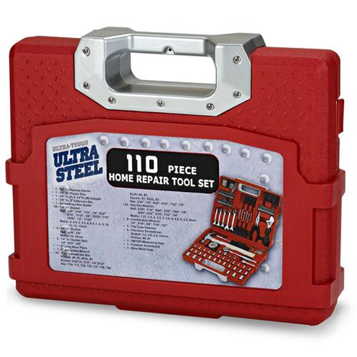 Ultra Steel 110-Piece Home Repair Tool Kit