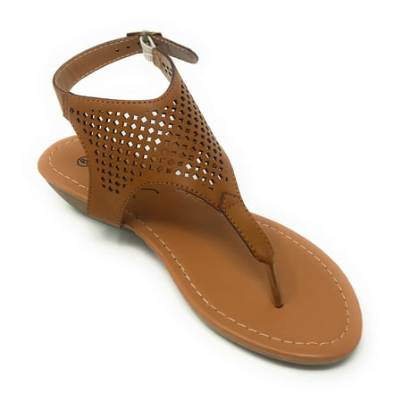 Victoria K Women's Laser Cut Out Pattern with Studded and Side Strap Wedge Sandals - Kenneth Cole Suede Sandals