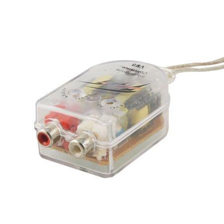 Unique Bargains Auto Vehicle High Low Impedance Converter Speaker to RCA Line Auto Adjust Smart Converter