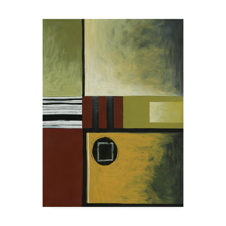 Trademark Fine Art 'Squares And Stripes' Canvas Art by Pablo Esteban