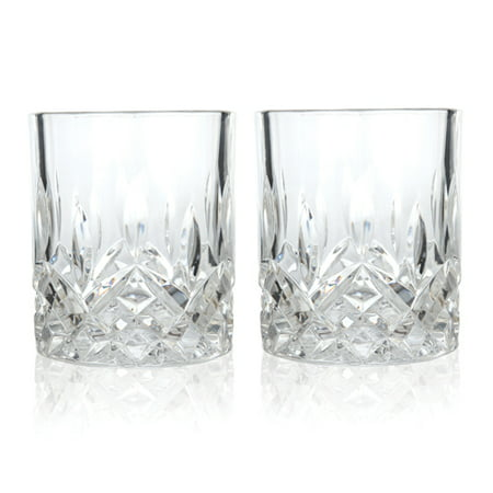 Tumbler Cups, Admiral Prismatic Rays Crystal Glass Insulated Tumbler, Set Of 2 (Sold by Case, Pack of 4)
