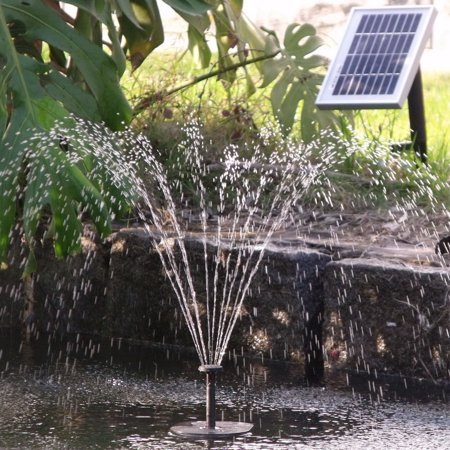 - Sunnydaze Solar Powered Water Pump and Panel Kit with 36-Inch Lift, Use for Outdoor Fountain, Bird Bath, or Pond, 66 GPH