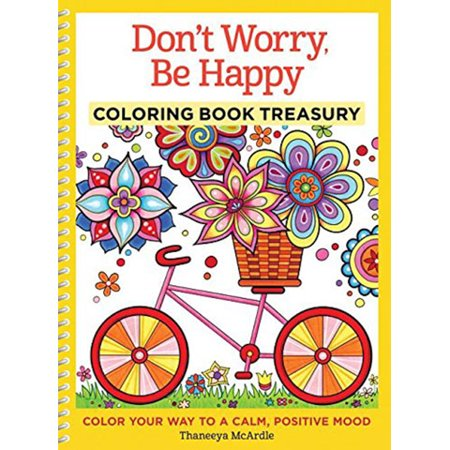 Don't Worry Be Happy Coloring Book Treasury for Adults (Happy Halloween Coloring Pages Spongebob)