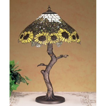 Meyda Tiffany 47632 Stained Glass / Tiffany Table Lamp from the Wild Sunflowers Collection (Sunflower Tiffany Lamp)