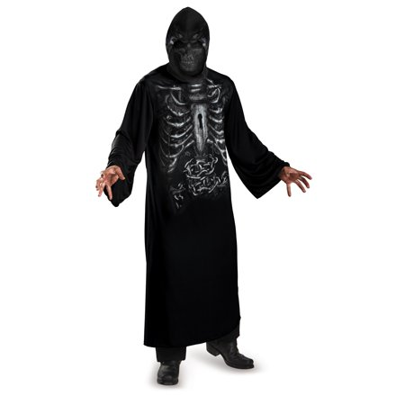 Reaper Hooded Print Robe Adult - Hooded Reaper