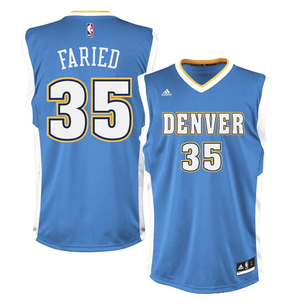 Kenneth Faried Denver Nuggets NBA Adidas Men's Blue Replica Jersey