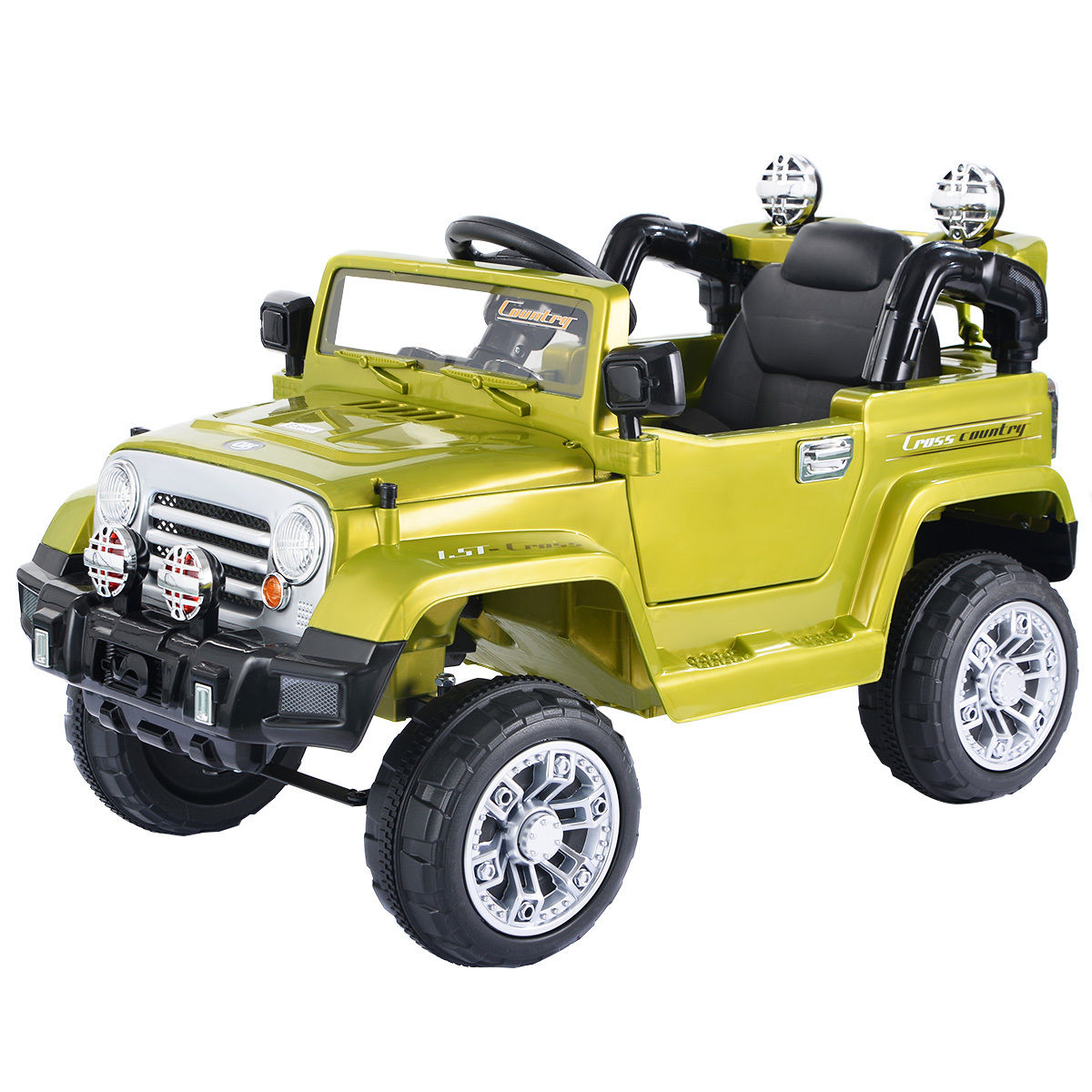 Costway 12v Mp3 Kids Ride On Truck Jeep Car Rc Remote Control W Led