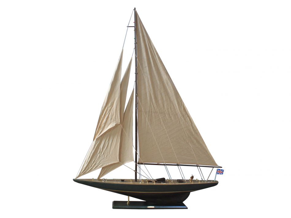 "Click here to buy Rustic Endeavour 60"" Decorative Sailboat Nautical Decor Model Boat Model Sailing Boat Wooden Sail Boat Model by Handcrafted Nautical Decor."