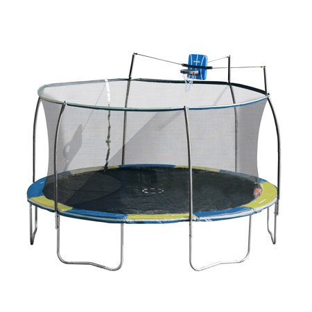 Bounce Pro 14-Foot Trampoline, with Slama Jama, Blue/Yellow