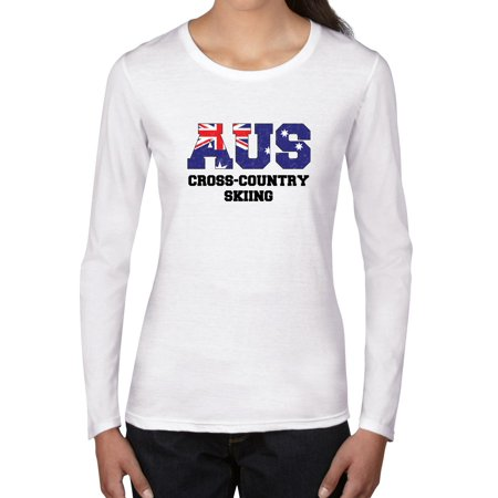 Australia Cross Country Skiing - Winter Olympic - Korea Women's Long Sleeve T-Shirt ()