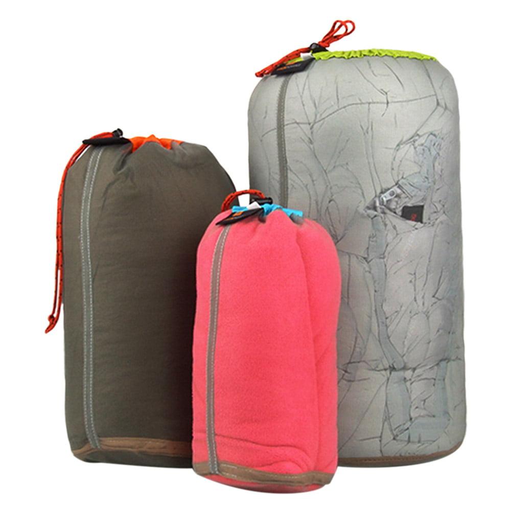 Tavel Camping Hiking Beach Mesh Stuff Sack Drawstring Bag Backpack Small