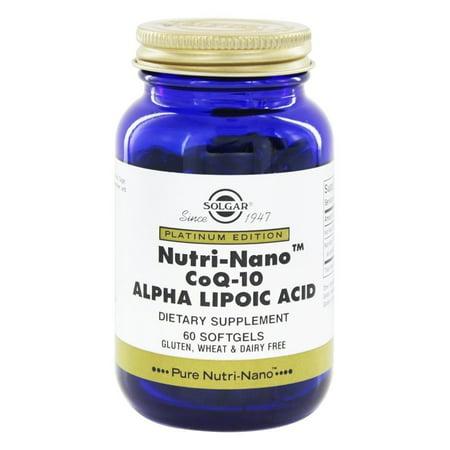 cad1f7254f01 Solgar Nutri-Nano CoQ-10 Alpha Lipoic Acid Softgels