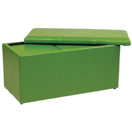 Metro Vinyl Ottoman Bench With Two Matching Storage Ottomans Metro Vinyl Ottoman Bench With 2