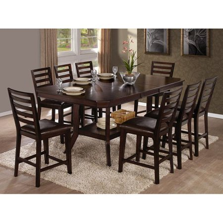 Progressive Furniture Bobbie 9 Piece Counter Height Dining Table ...