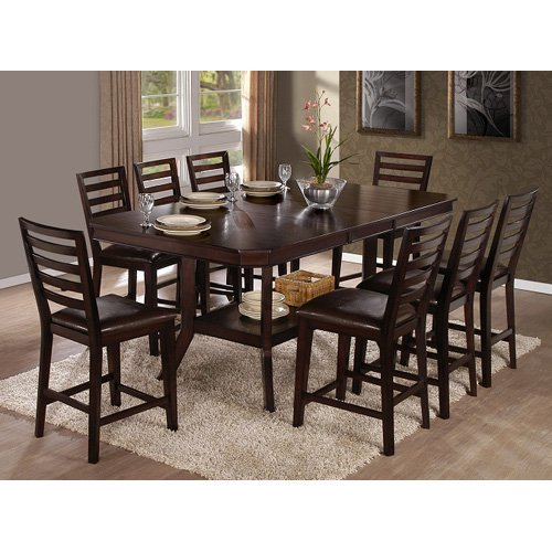 Progressive Furniture Bobbie 9 Piece Counter Height Dining Table Set