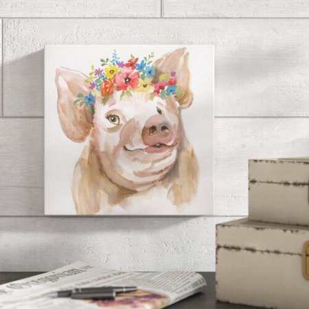 Gracie Oaks 'Royal Pig' Painting on Wrapped Canvas