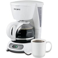 Mr. Coffee Simple Brew 4-Cup Switch Coffee Maker, White TF4 Series