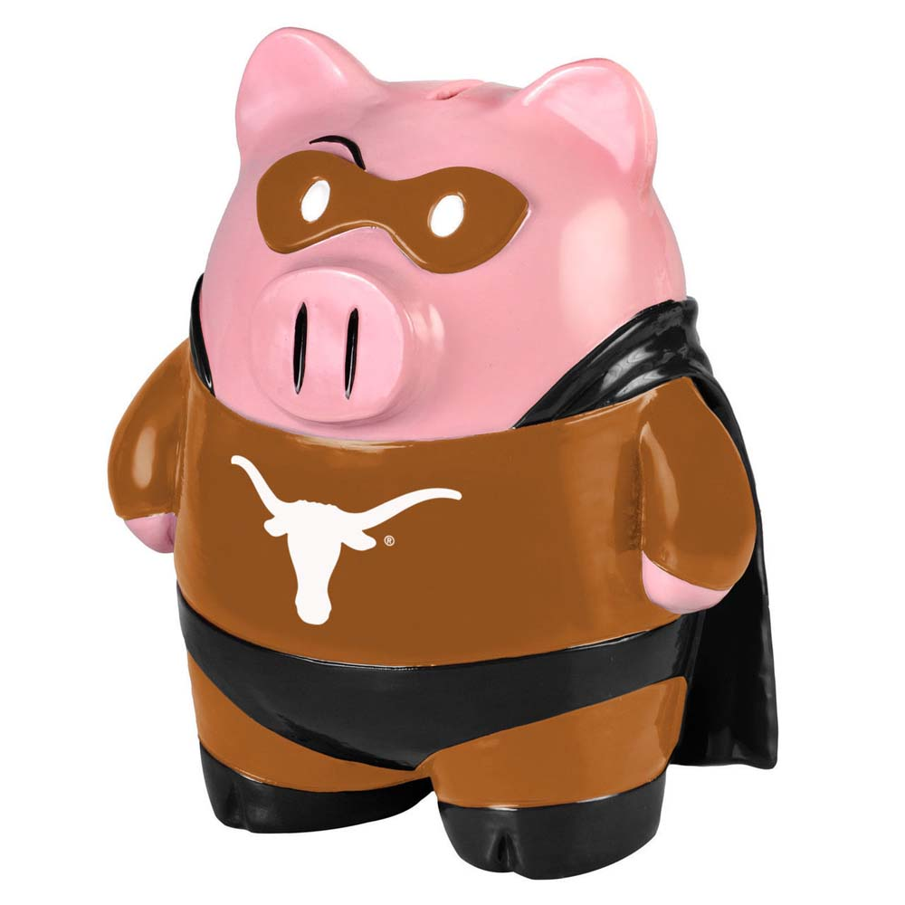 Texas Longhorns Piggy Bank Large Stand Up Superhero by Forever Collectibles