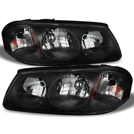 00 05 Chevy Impala Black Replacement Headlights Headlamps Left Right 2000 2005