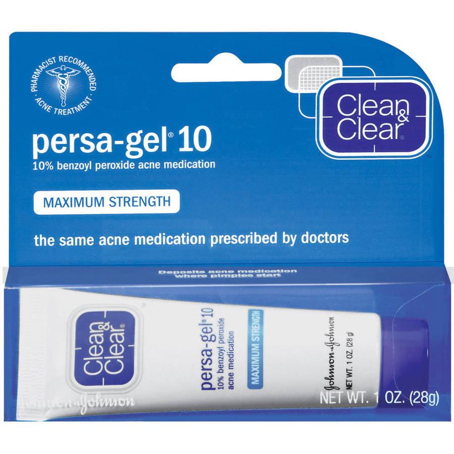 Clean & Clear Persa-Gel, 10 Maximum Strength Acne Treatments, 1 oz