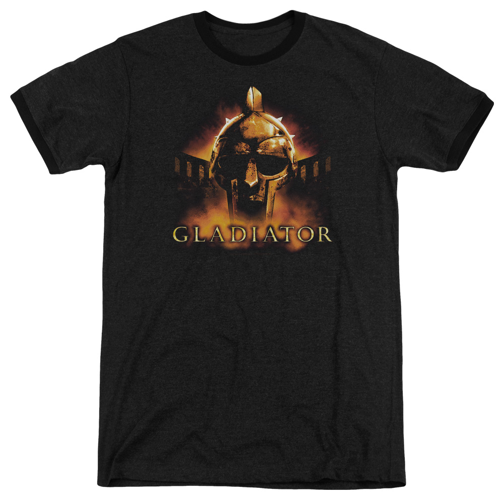 Gladiator My Name Is Mens Adult Heather Ringer Shirt