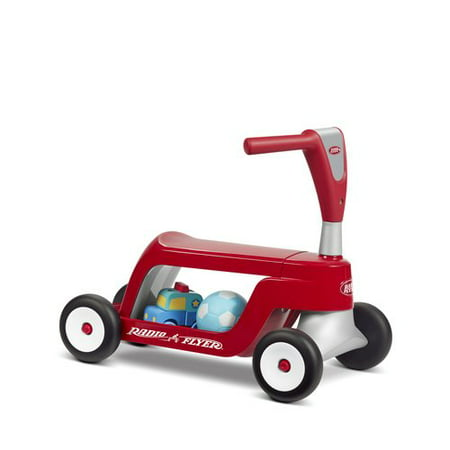 Radio Flyer, Scoot 2 Scooter, 2-in-1 Ride-On and Scooter, Red American Flyer Toy Trains