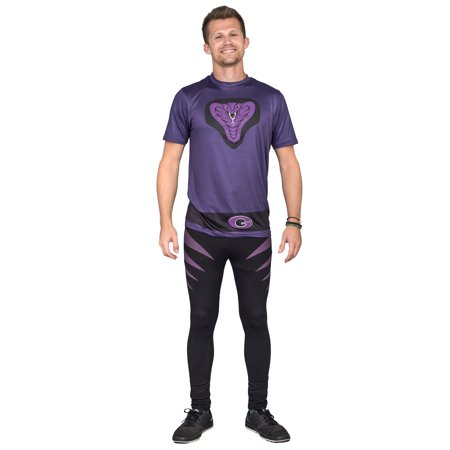 Dodgeball Purple Cobras Adult Halloween Costume Set