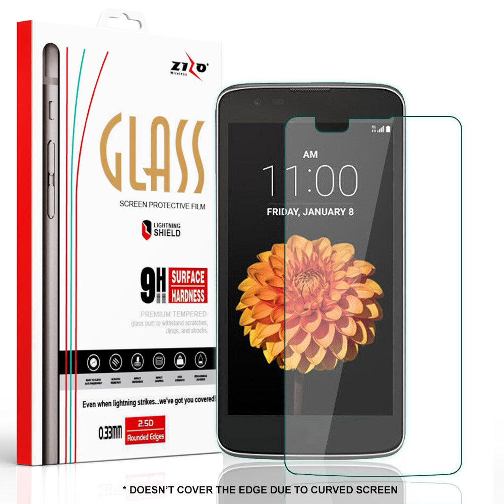 Zizo® Tempered Glass Screen Protector for LG K10 [Anti-Scratch] 9H Hardness [0.33 MM Thickness] ...