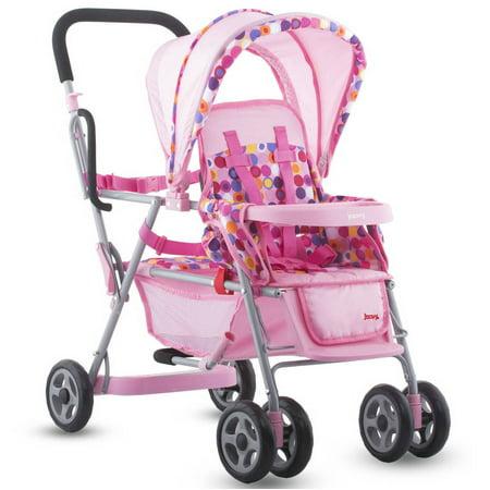 - Joovy Caboose Toy Stroller Baby Doll Stroller, Pink