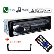 Podofo 1 DIN Car audio In-Dash 12V Bluetooth Car Radios Stereo Remote Control Digital Audio Music Stereo Car Radio Mp3 Player USB/SD/AUX-IN