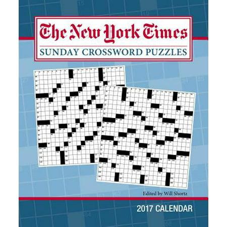 the new york times sunday crossword puzzles 2017 calendar walmart com