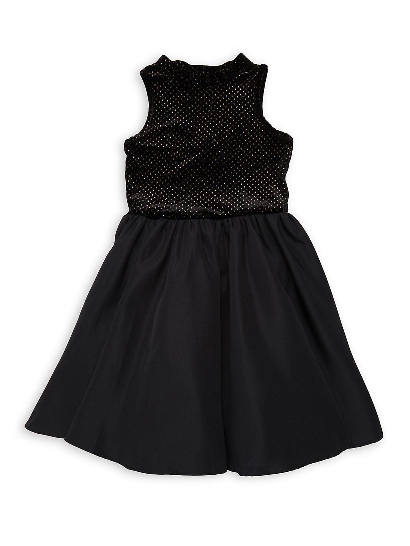 Girl's Metallic Sleeveless Dress