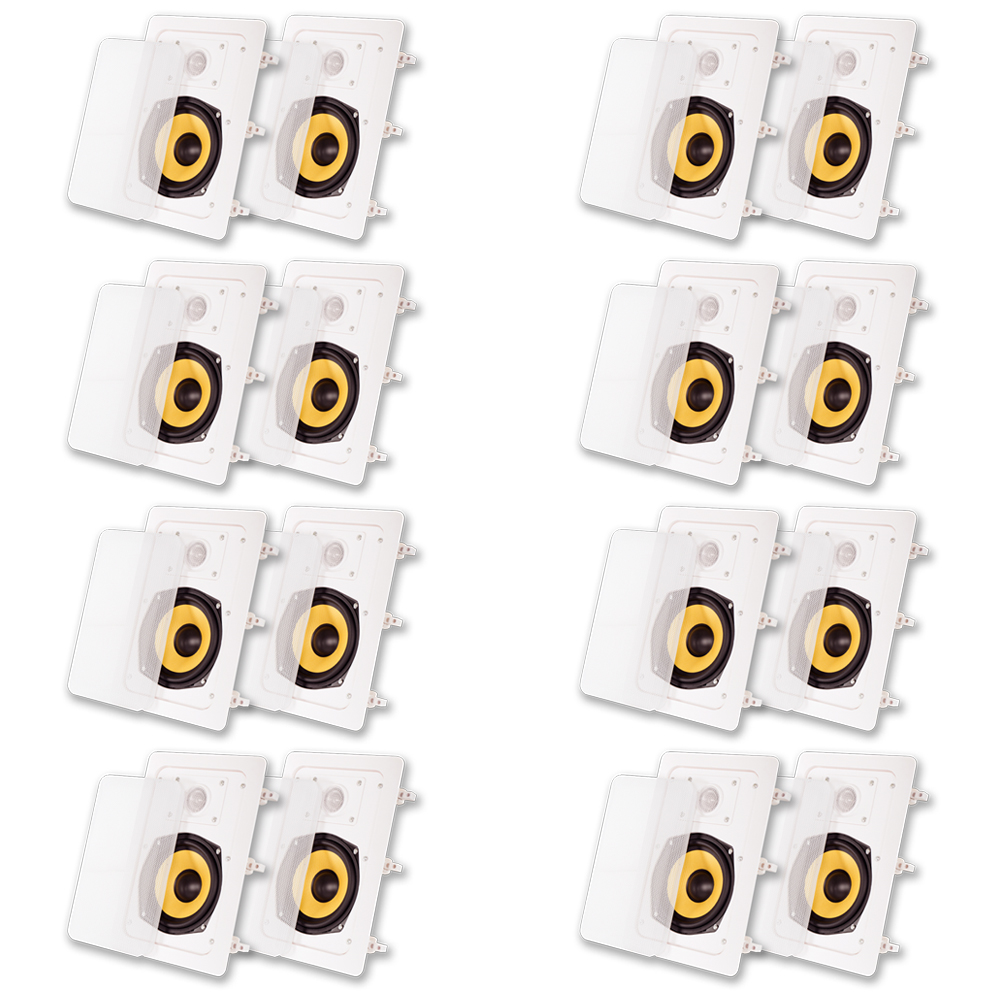 Acoustic Audio HD-525 In Wall Speakers Home Theater Surround Sound 8 Pair Pack by Acoustic Audio