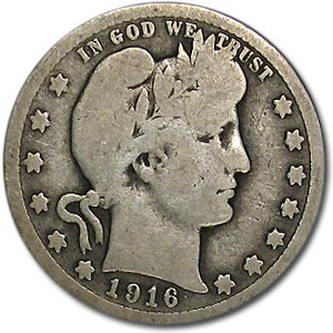 1916 Quarter - 1916 Barber Quarter Good/VG