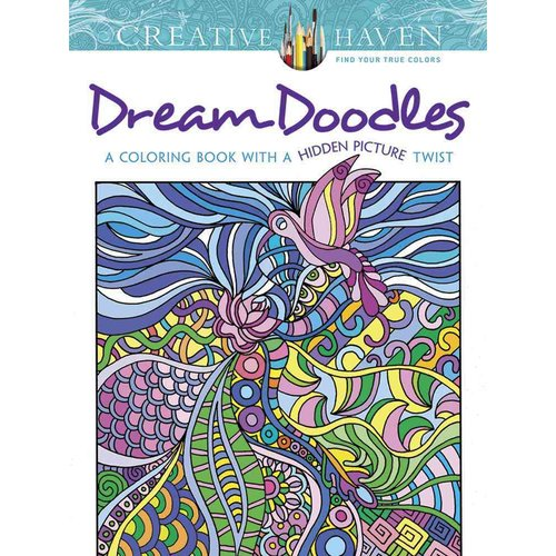 Dream Doodles Adult Coloring Book: A Coloring Book With a Hidden Picture Twist