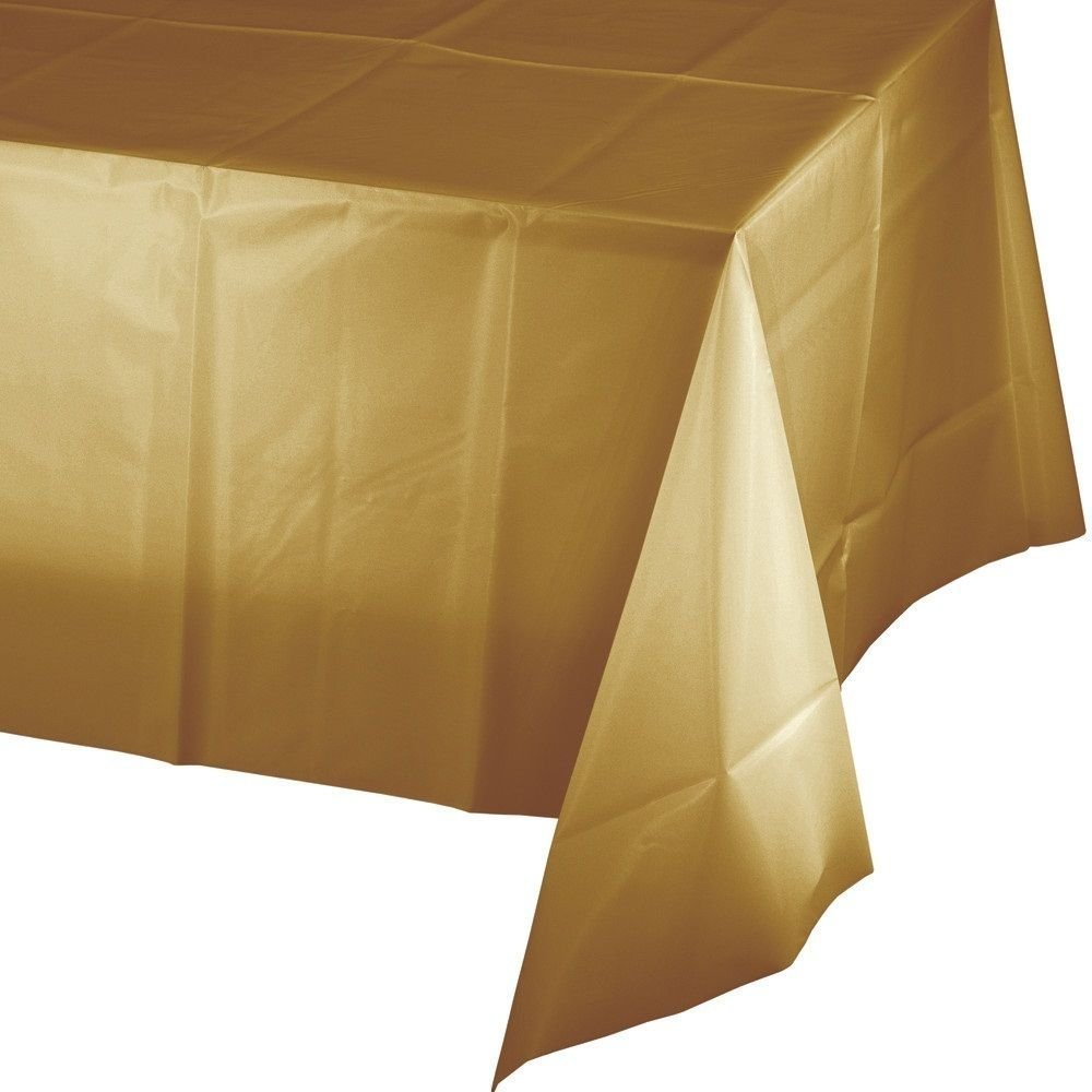 """Mountclear 12-Pack Disposable Plastic Tablecloths 54"""" x 108"""" Rectangle Table Cover (RED)"""
