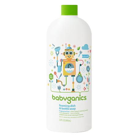 Babyganics Foaming Dish & Bottle Soap Refill, Fragrance Free, 32oz (Babyganics Dish)