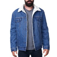 Deals on Alpine Swiss Mens Sherpa Lined Denim Jacket Up Jean Trucker Coat